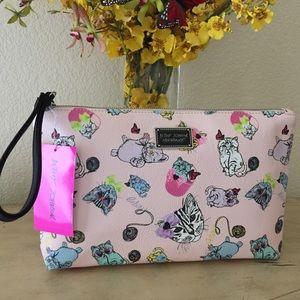 Betsey Johnson Playful Cats Wristlet